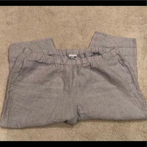 J Jill cropped linen pants